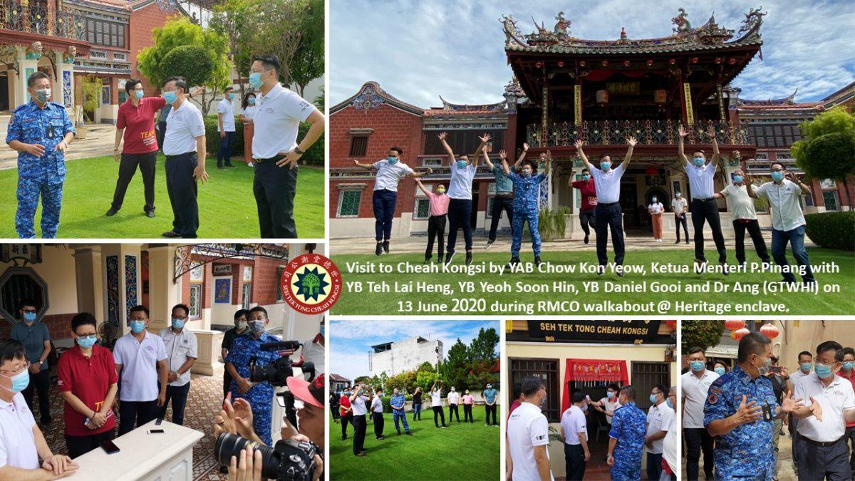 VISIT TO CHEAH KONGSI by YAB Chow Yeow, Ketua Menteri P.Pinang
